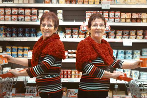Zwillingseinkaeuferinnen