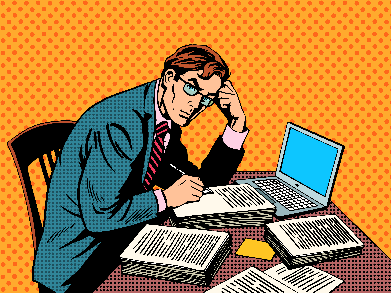 Writer editor journalist academic thesis paper laptop