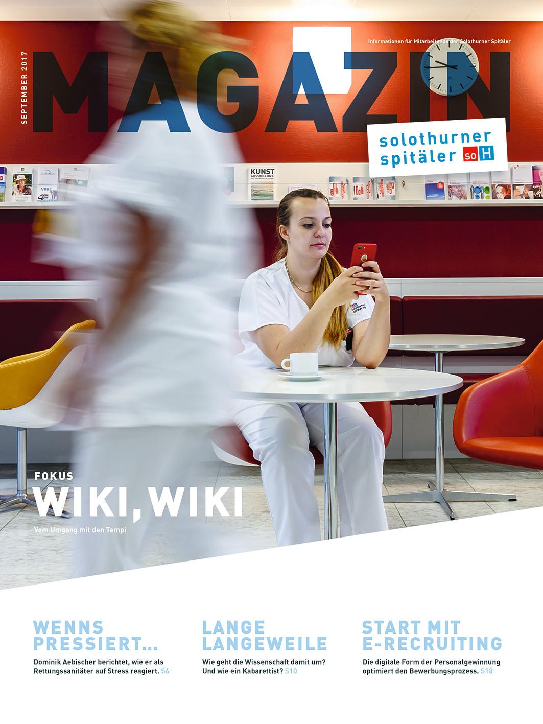 Mitarbeitermagazin der Solothurner Spitäler AG