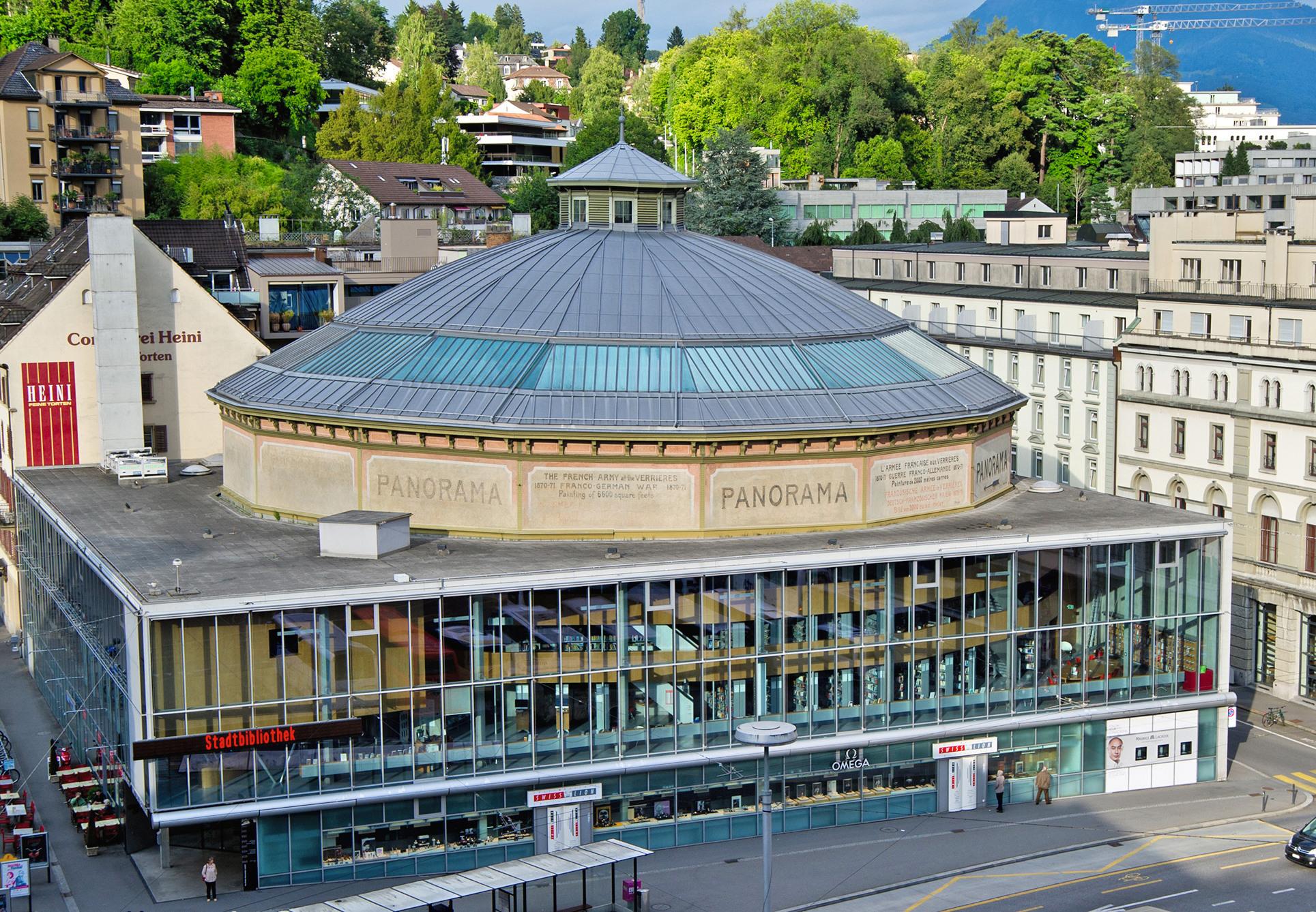 Seine schöne Fassade und seine moderne Einrichtung machen das Bourbaki-Panorama zu einer beliebten Eventlocation.