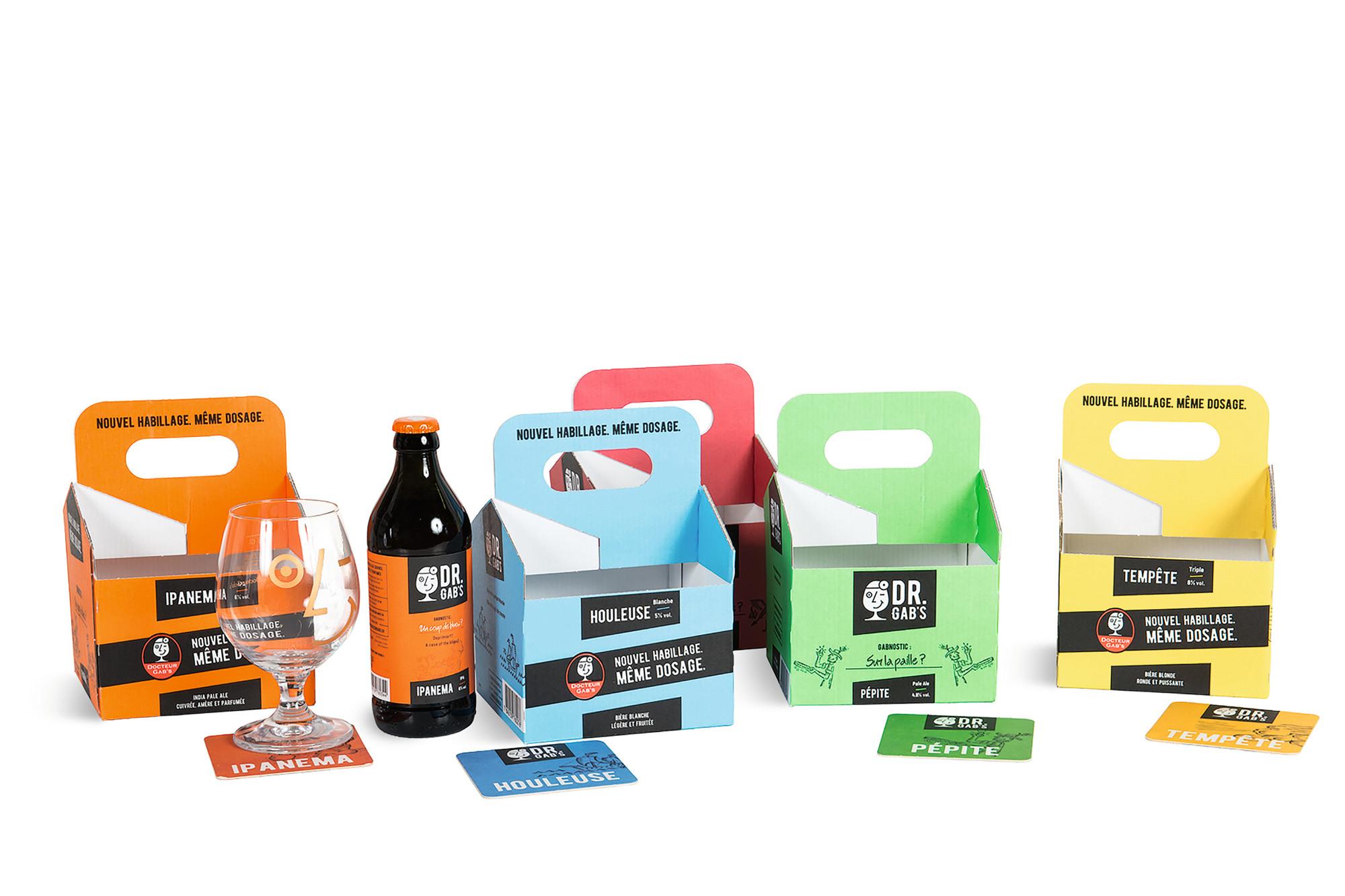 Zur Verpackung gehören heute passende Etiketten und weitere Zusätze wie hier Bierdeckel.