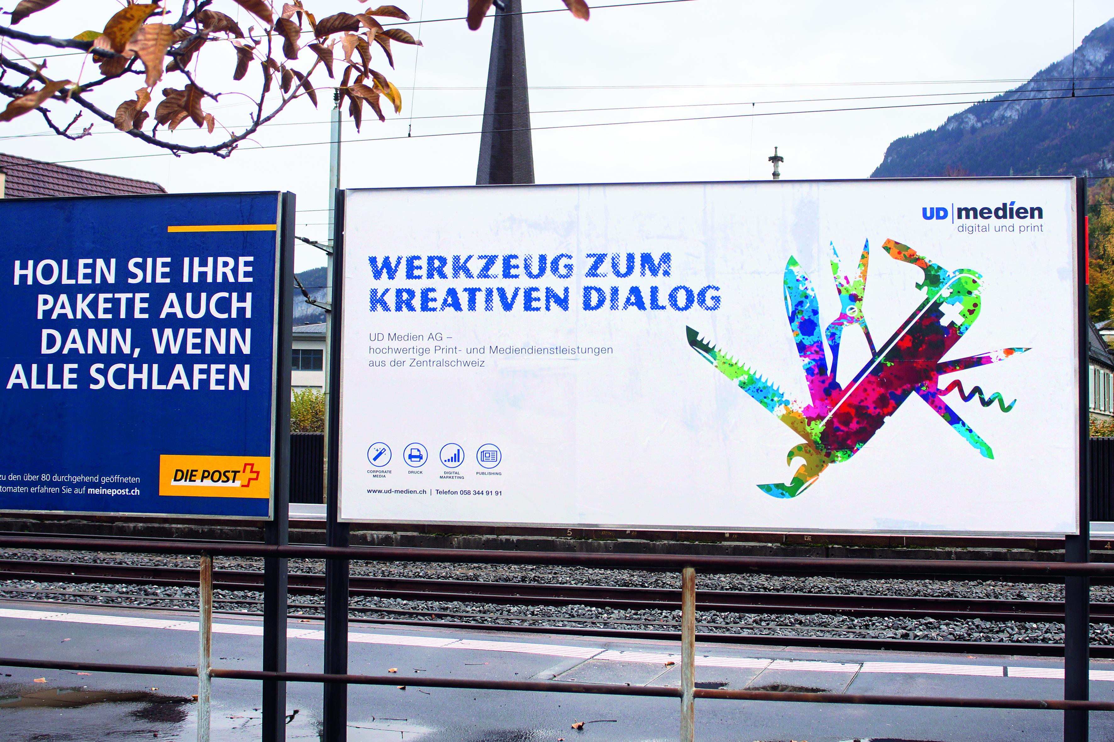 UD Medien Plakatkampagne Schwyz
