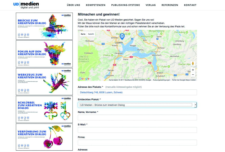 Wer den Standort eines gesichteten Plakats online markiert, kann an einem Wettbewerb teilnehmen.